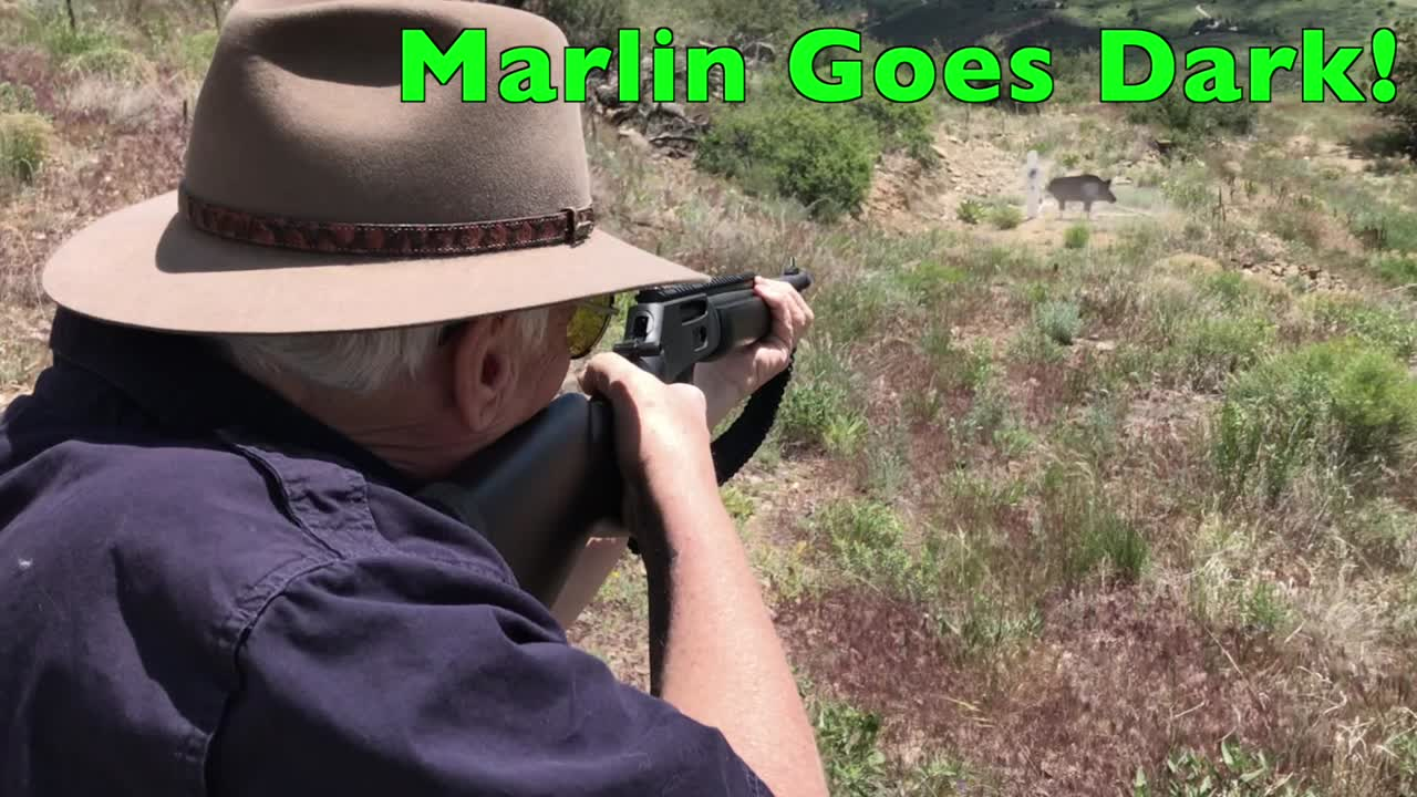 Shooting the Marlin 336 Dark in 30-30 Win