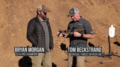 """The .300 Blackout cartridge was developed to provide greater effectiveness than a 9mm at short and medium ranges when fired from a short-barreled suppressed firearm. Just because the cartridge wasn't designed to go long doesn't mean Rifles & Optics Editor Tom Beckstrand won't take it there, using a large-format pistol, no less. Armed with SIG Sauer's 9-inch-barreled MCX Virtus Pistol loaded with Black Hills' 125-grain TMK ammunition, Beckstrand attempts to ring steel at 600 yards with help from Hornady's 4DOF ballistic calculator in this segment of """"Long Range Tech."""""""