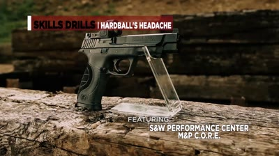 The Hardball's Headache pistol drill is very similar to the El Presidente drill with a higher level of difficulty due to two added twists.