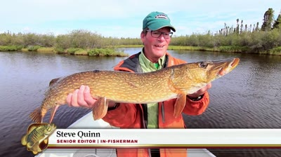 Steve Quinn is up in Northern Canada at Webber's North Knife Lake Lodge on the hunt to catch northern pike and lake trout.